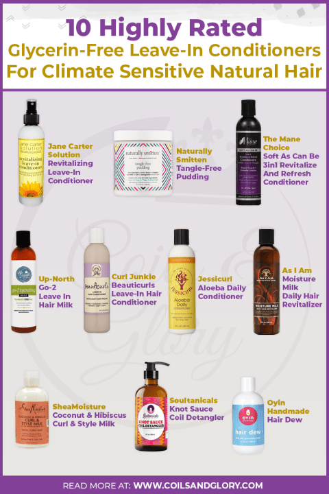 glycerin free hair products