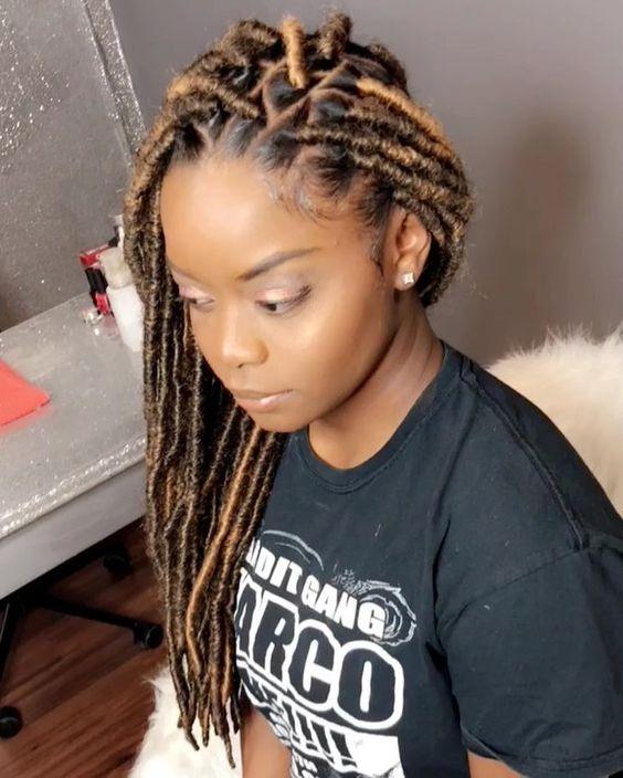 faux locs with kanekalon hair