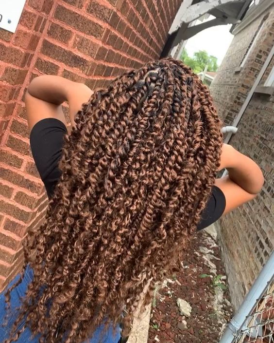 passion twist hairstyle colored