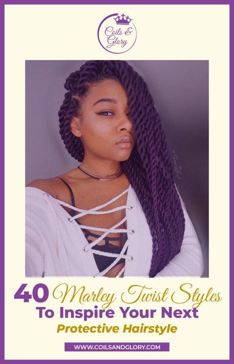 marley twists hairstyles on 4c natural hair
