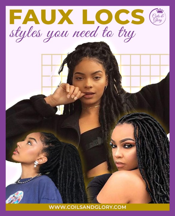 faux locs hairstyles on 4c hair