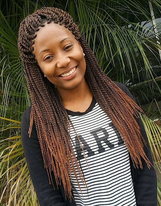 brown Senegalese Twists