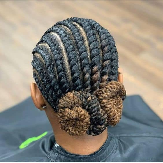 flat twists on long natural hair