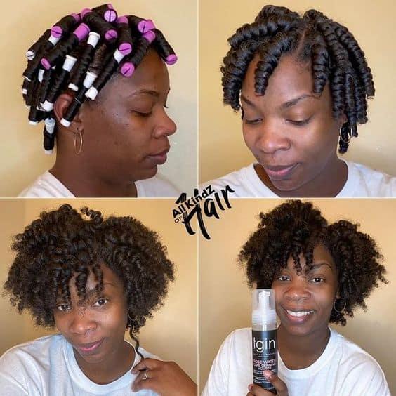 perm rods set on 4c hair