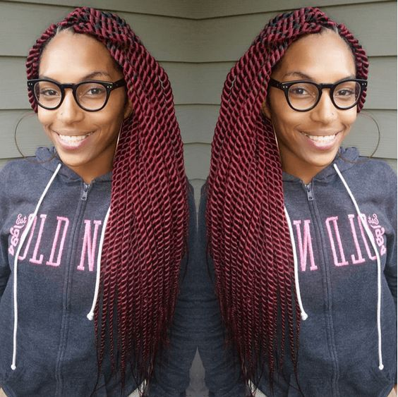 Jumbo Red Senegalese Twists