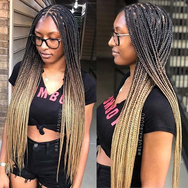 ombre box braid