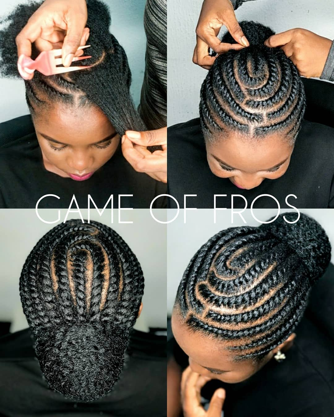 flat twist hairstyles on short 4c hair