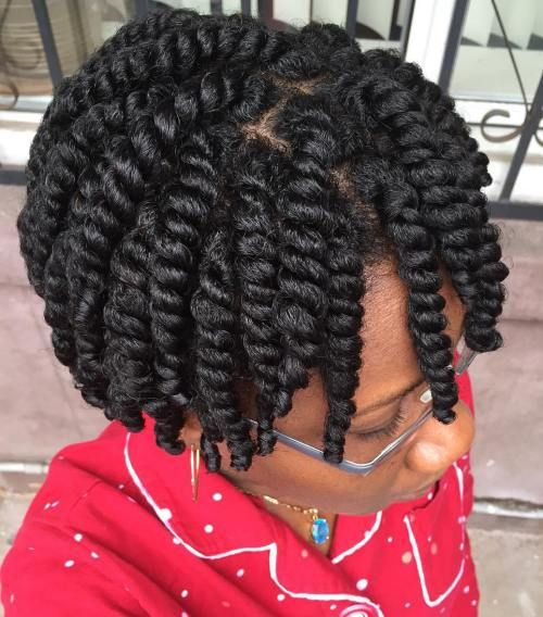two strand twist on short 3c hair