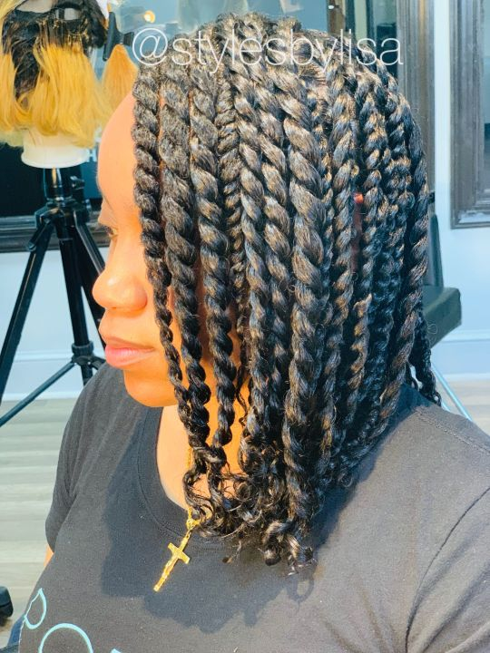 Rope twists on natural hair