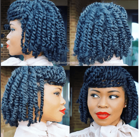 Real hair natural hair twist