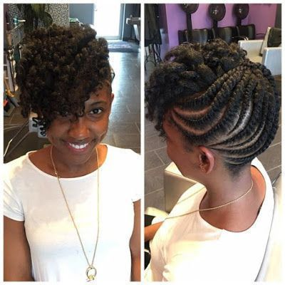 flat twists updo