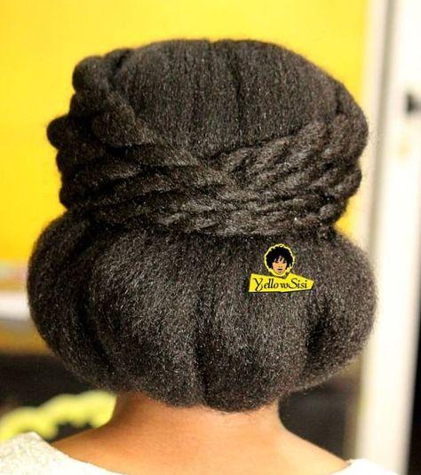 updo on 4c hair - yellow sisi salon