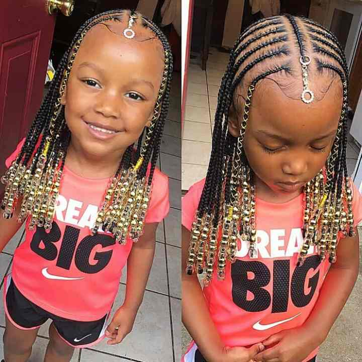 kids hairstyles with beads