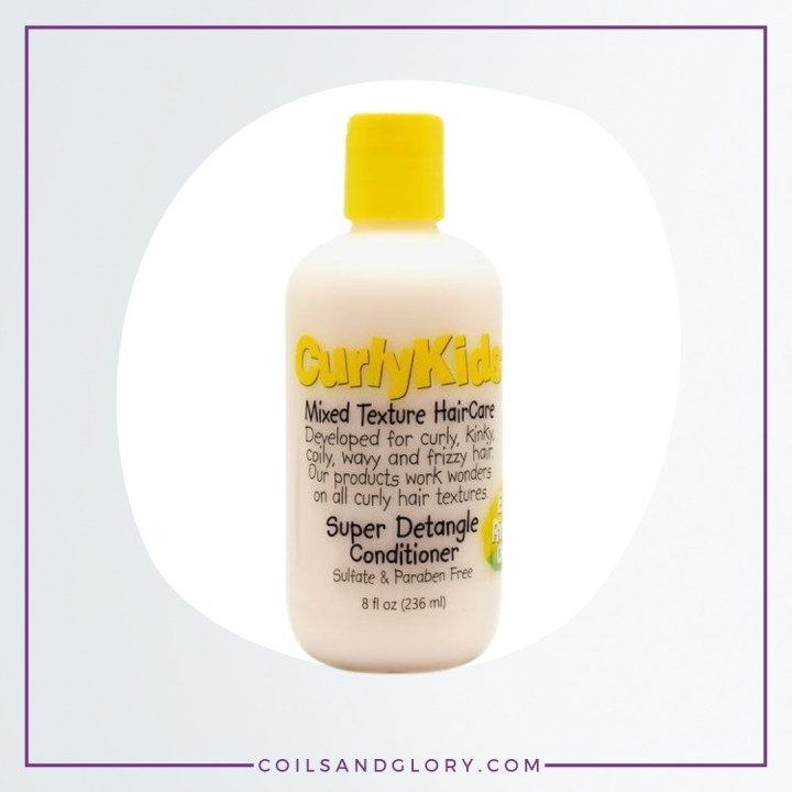 curly kids mixed hair super detangle conditioner