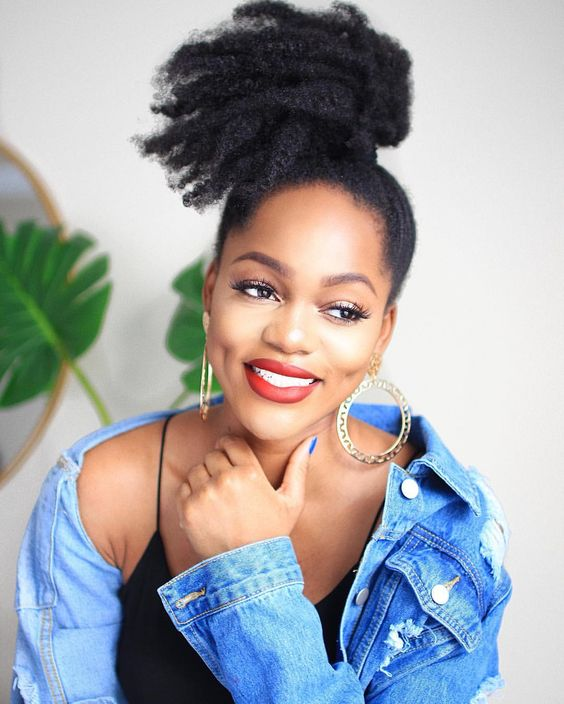 afro puff hairstyle ideas