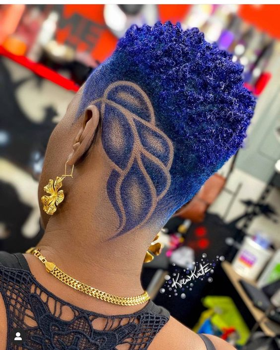 shaved haircuts for black women