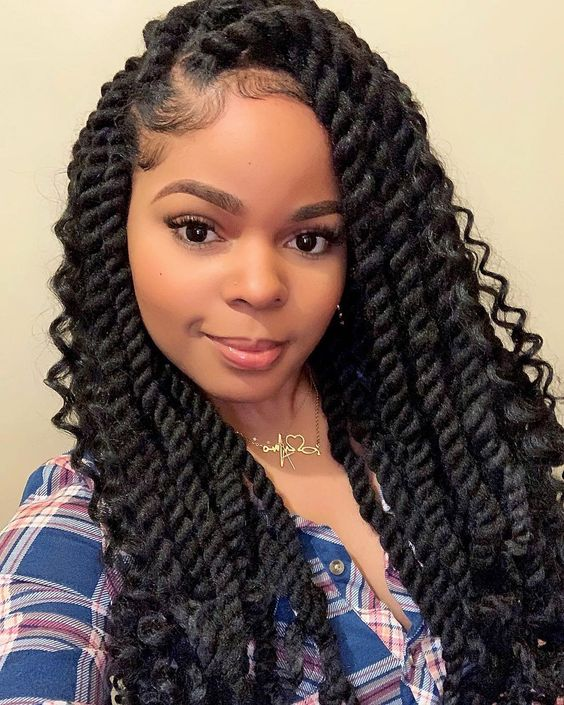 Chunky havana twists with curly ends