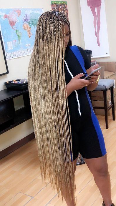 knee length box braids