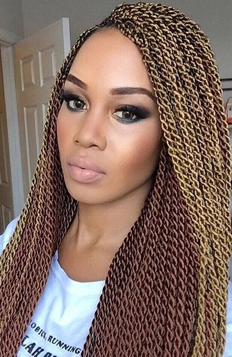 ombre senegalese twists on natural hair