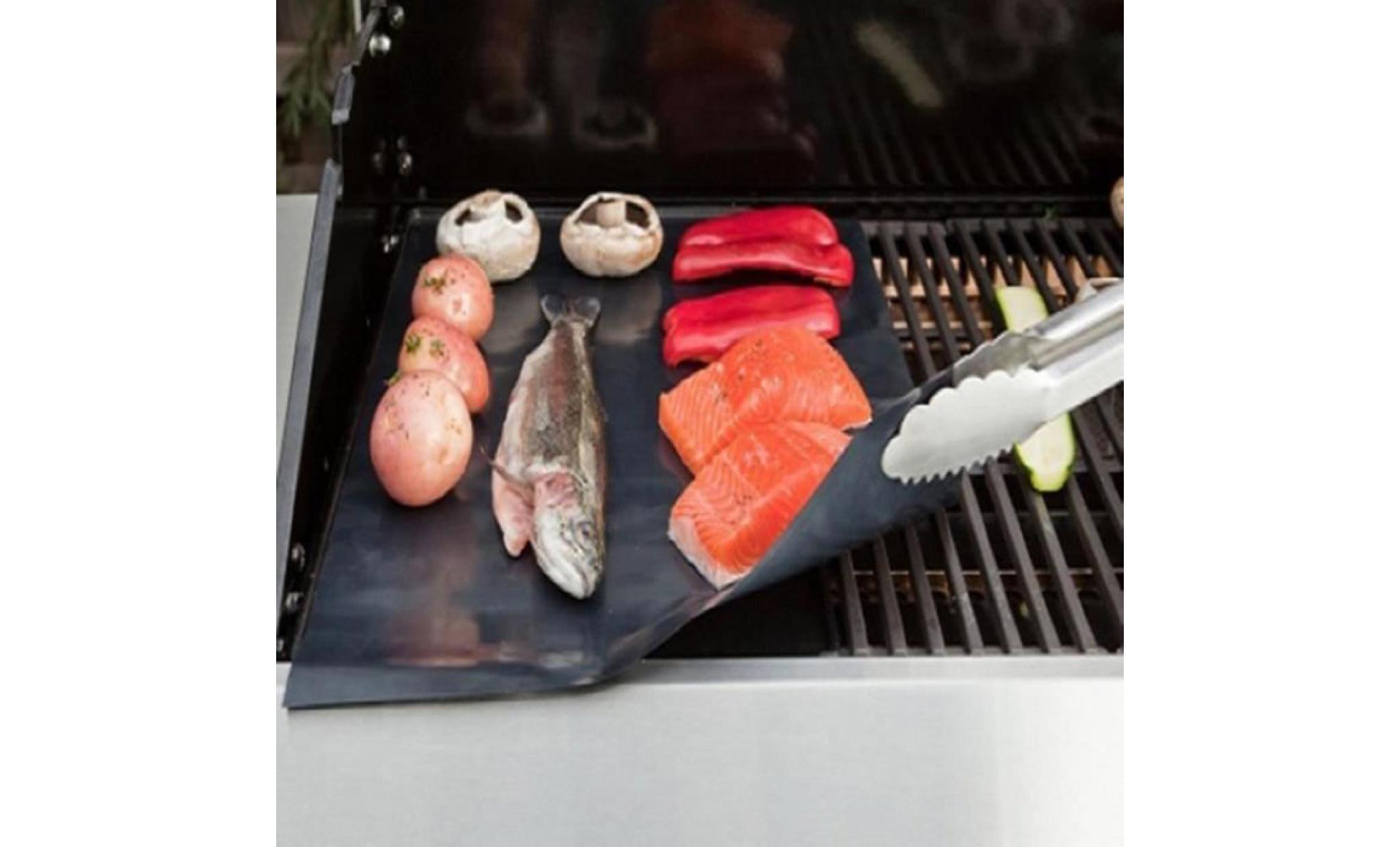 5pcs tapis grille pour barbecue tapis de cuisson pour griller ou barbecue 40 33cm c1601 achat vente accessoires barbecue pas cher coindujardin com