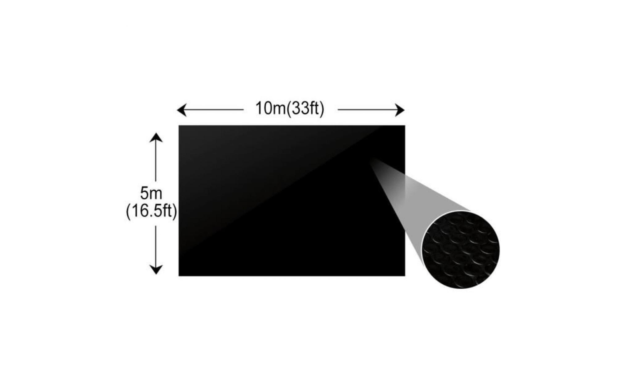 baches de piscines et tapis de sol couleur noir dimensions 6 x 4 m materiel pe epais avec bulles d air ma achat vente bache piscine pas cher coindujardin com