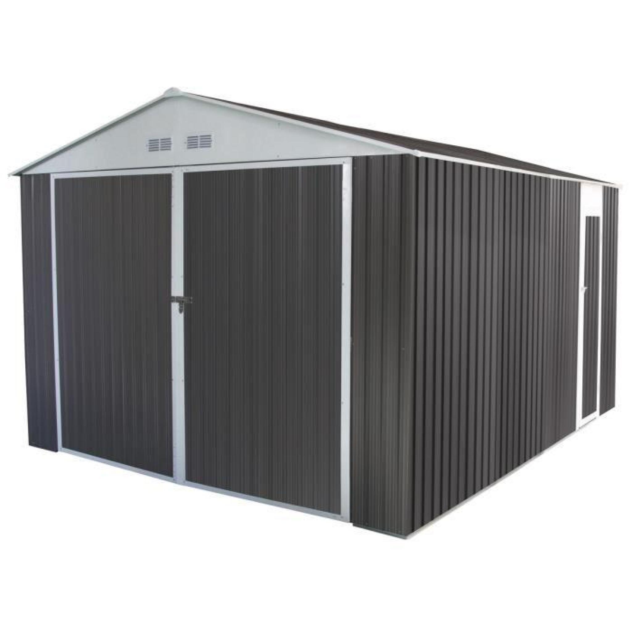 Garage Metal Nevada Avec Porte Battante 15 36 M Achat Vente Garage En Metal Pas Cher Coindujardin Com