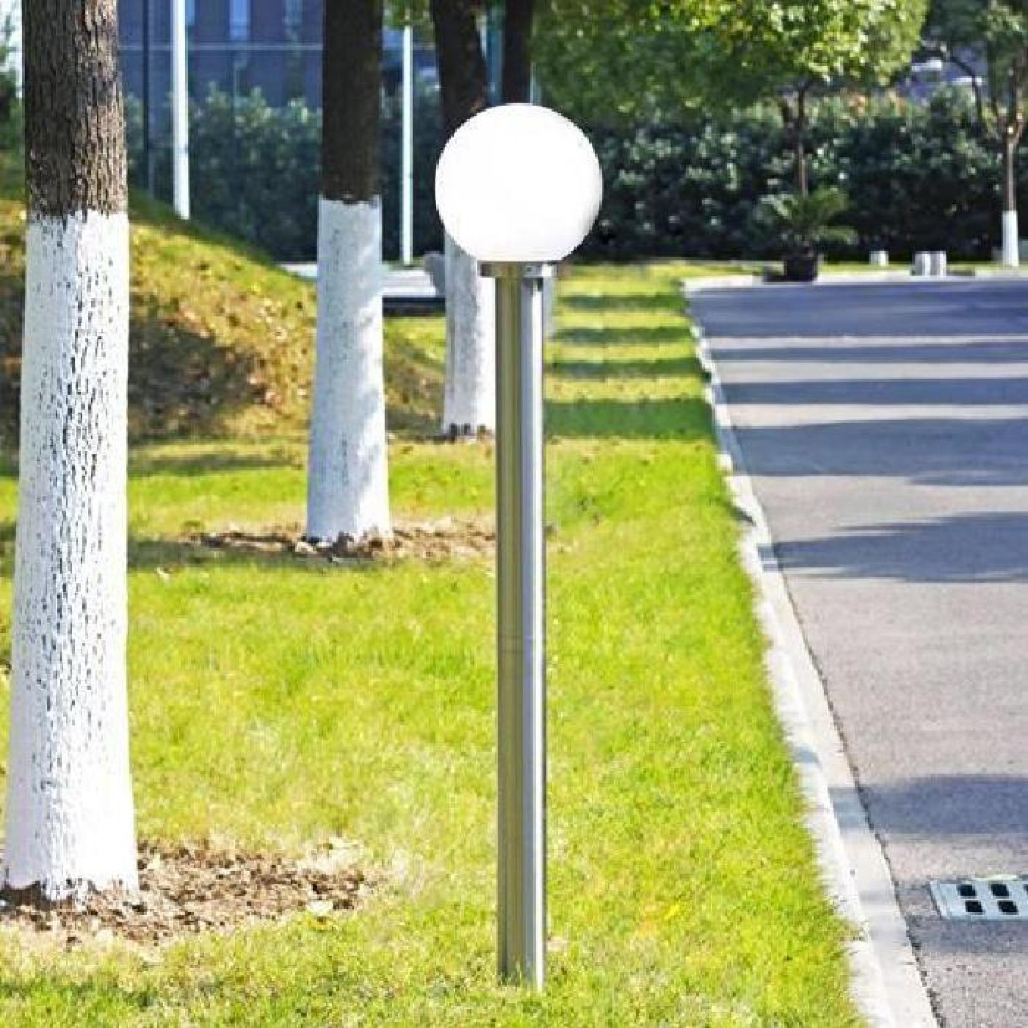 lampadaire exterieur design moderne 1 tete blanc achat vente lampadaire jardin pas cher coindujardin com