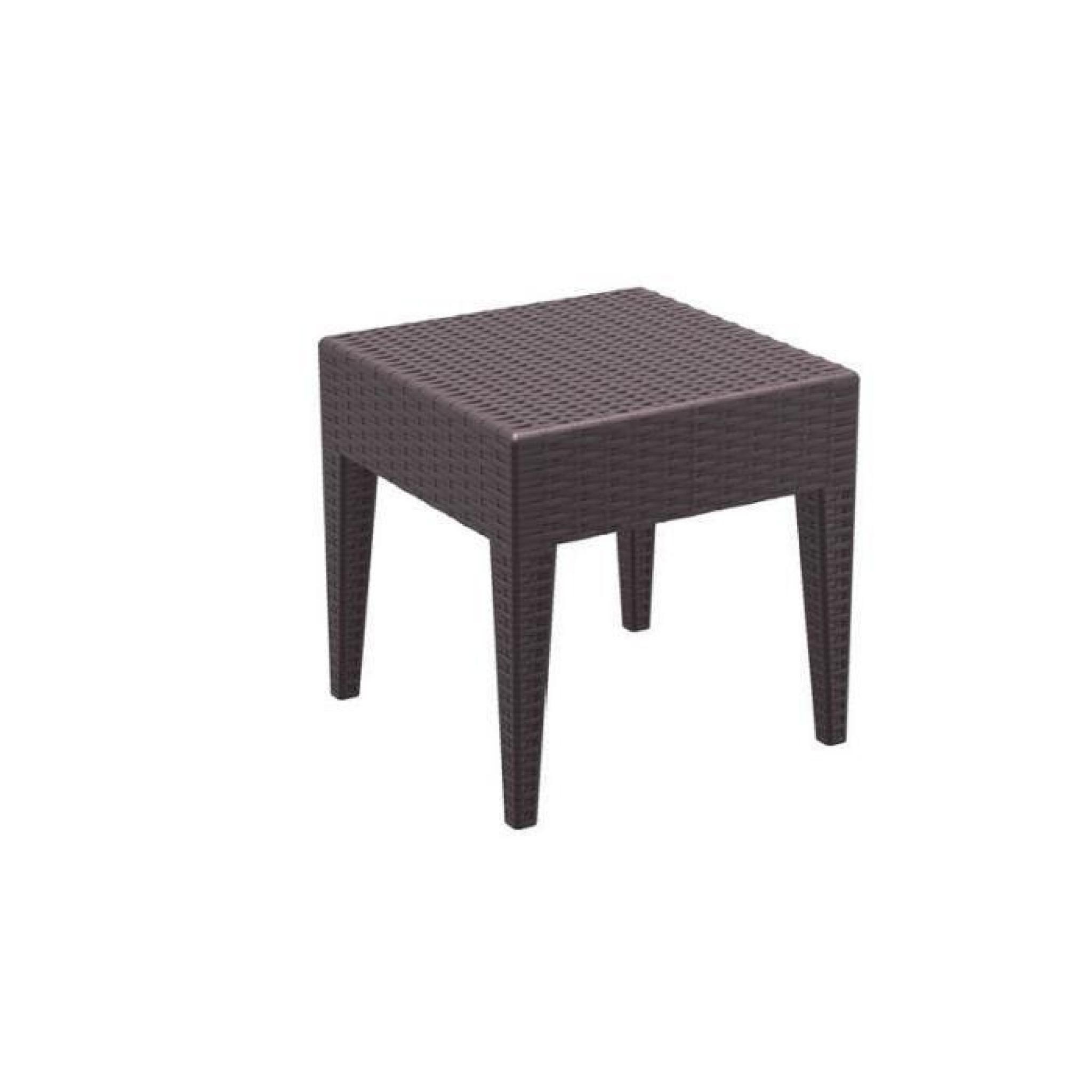 table basse de jardin carre etanche en plastique marron 45x45x45 cm mdj10027 achat vente table de jardin en plastique pas cher coindujardin com