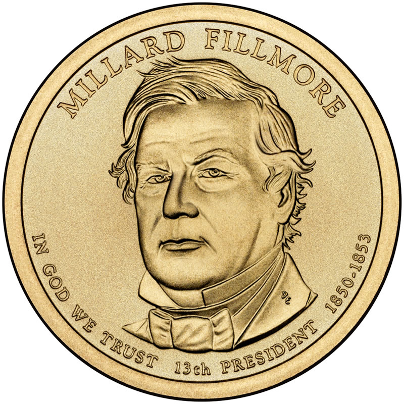 Millard Fillmore dollar, released February 18, 2010 - image from CoinNews.net
