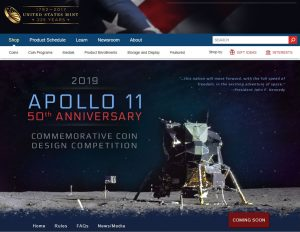 U S Mint Opens Apollo 11 Commemorative Coin Design