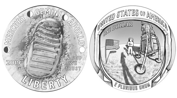 2019 Apollo 11 50th Anniversary Commemorative Coin Designs ...