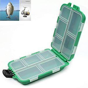 Beito Plastique 10compartiments Poissons de pêche à la mouche Leurre Cuillère Crochet Bait Tackle Boîte de rangement Case Holder Container