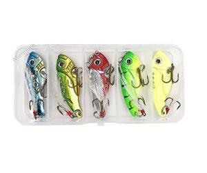 Cuillère / lame vibrante colorée en métal pour la pêche avec boîte