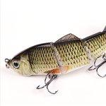Lixada 120mm/150mm 4 Segments Multiarticulés Leurre Dur Vivant comme Swimbait Crank Bait Treble Hooks De Pêche Leurre (Color 1 120mm)
