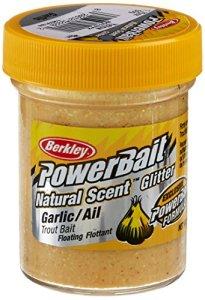 PowerBait FW Natural Garlic Scent Glitter Trout Fishing Bait (Yellow)