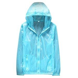 Sfit Homme Légère Veste à Séchage Rapide D'extérieur Protection UV XXL Bleu Clair