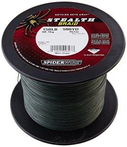 Spiderware Ultracast Stealth Superline bobines, SS250G-3000, Vert Mousse, 3000 Yards / 250-Pound Test