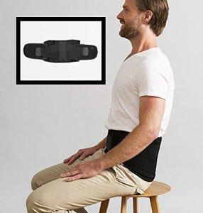 Swedish Posture® STABILIZE Medium | Ceinture Abdominale pour soulager Le Dos | Soutien de la Colonne vertébrale | Meilleure Posture au Bureau | pour Travail Physique Lourd | Thérapie Thermique