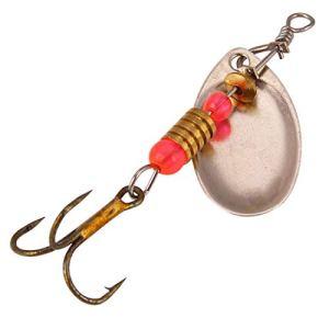 5.5 cm 3g Métal Spinner Leurre De Pêche Cuillère Leurre Paillettes Tournantes Appât Crochets Wobbler Crankbait Pesca De Pêche S'attaquer