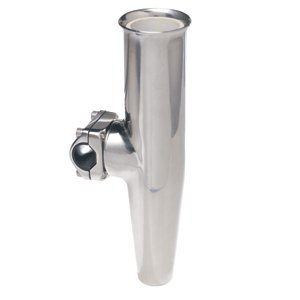 C.E. Smith Support de Mid Réglable Rod Holder f/7/8Od Tube W/Sleeve–Argent, Argenté, Diameter (inches) = None | Length (inches) = None
