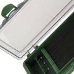 NGT Unisexe fla 900Plastique Rigide Rig Board avec Broches pour pêche à la Carpe, Vert, 34.5x 9x 2.5cm