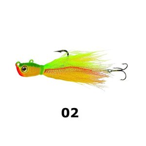 Northland Attaquer Bbj8–2 Bionic Bucktail Jig 1/CD Bionic Bucktail Jig, Jaune, perche, 28,3 gram