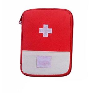 Pratique médicale Stockage Sac Camping Survival First Aid Kit Portable Bag Case Rouge