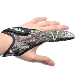 Dr. Fish – Lot de 2 gants pour décrochage de carpe, gant de pêche seul doigt avec motif camouflage antidérapant
