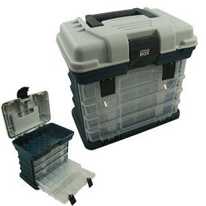 Étui de rangement avec 4 compartiments réglables Boîtes de Rangement de Boîte d'articles de pêche, Lunar Box ®