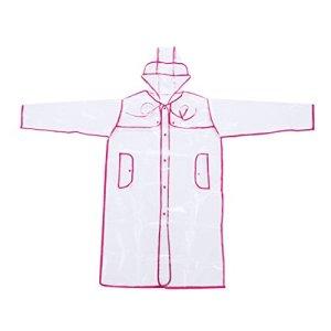 FakeFace Transparent Manteau de Pluie pour Eva Veste de Pluie pour Les Enfants étudiants garçon Fille imperméable Trench Parka imperméable Vêtements de Pluie Rain Coat Cape de Pluie Rosa