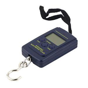 HibiscusElla Durable Portable 40 kg / 10g LCD Affichage Numérique Électronique Pendaison Pêche Numérique Poche Poids Crochet Échelle Poche Taille