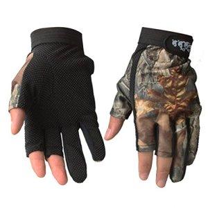 TENDUAGEN 3Cut Finger Pêche Gants, camouflage Camo antidérapant étanche respirant Quickly-dry extérieur Chasse Gants de pêche