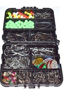 Generic Crimp Boîte d'embouts tourne dans Attaquer KLE Bit B Mer Pêche Tac émerillons Connecteurs Crochets dans une boîte I Lot Livré dans une boîte