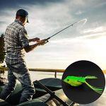 WEIWEITOE Artificiels appâts de pêche Doux leurres Grenouille réaliste leurres avec Deux hameçons Grenouille Topwater Rayons appâts de pêche en Plein air, au Hasard,
